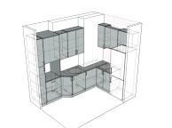 3D проект кухни - Orange Cat 101