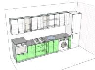 3D проект кухни - Orange Cat 110