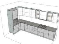 3D проект кухни - Orange Cat 111