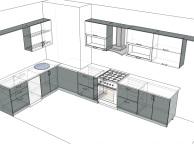 3D проект кухни - Orange Cat 112