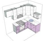 3D проект кухни - Orange Cat 113