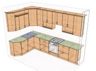 3D проект кухни - Orange Cat 114