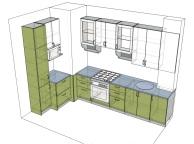 3D проект кухни - Orange Cat 115