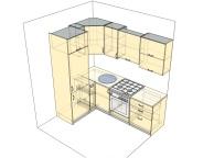 3D проект кухни - Orange Cat 116