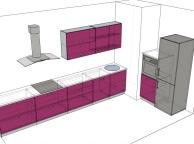 3D проект кухни - Orange Cat 117