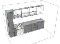3D проект кухни - Orange Cat 118