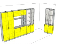 3D проект кухни - Orange Cat 119