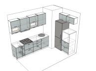 3D проект кухни - Orange Cat 102