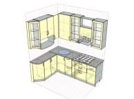 3D проект кухни - Orange Cat 120