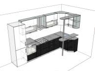 3D проект кухни - Orange Cat 122