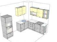 3D проект кухни - Orange Cat 123