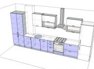 3D проект кухни - Orange Cat 124