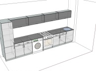 3D проект кухни - Orange Cat 125