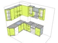 3D проект кухни - Orange Cat 126
