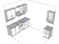 3D проект кухни - Orange Cat 127