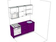 3D проект кухни - Orange Cat 128