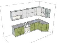 3D проект кухни - Orange Cat 129
