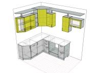 3D проект кухни - Orange Cat 103