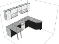 3D проект кухни - Orange Cat 130