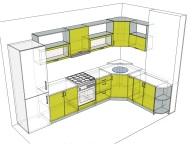 3D проект кухни - Orange Cat 131