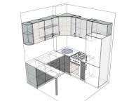 3D проект кухни - Orange Cat 132