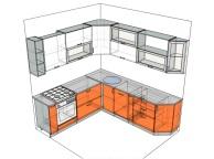3D проект кухни - Orange Cat 133
