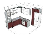 3D проект кухни - Orange Cat 134