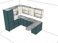 3D проект кухни - Orange Cat 135
