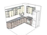 3D проект кухни - Orange Cat 136