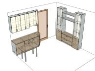 3D проект кухни - Orange Cat 137