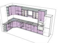 3D проект кухни - Orange Cat 138
