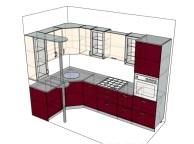3D проект кухни - Orange Cat 139