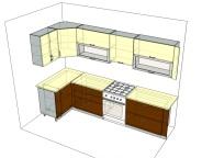 3D проект кухни - Orange Cat 104