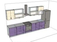 3D проект кухни - Orange Cat 140