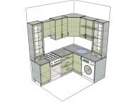 3D проект кухни - Orange Cat 177