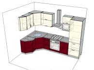 3D проект кухни - Orange Cat 178