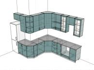 3D проект кухни - Orange Cat 179
