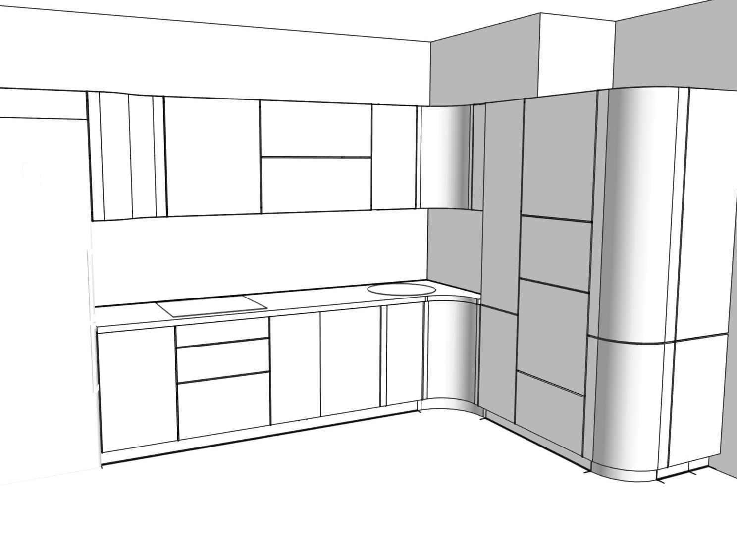 3D проект кухни - Orange Cat 379