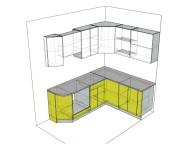 3D проект кухни - Orange Cat 105