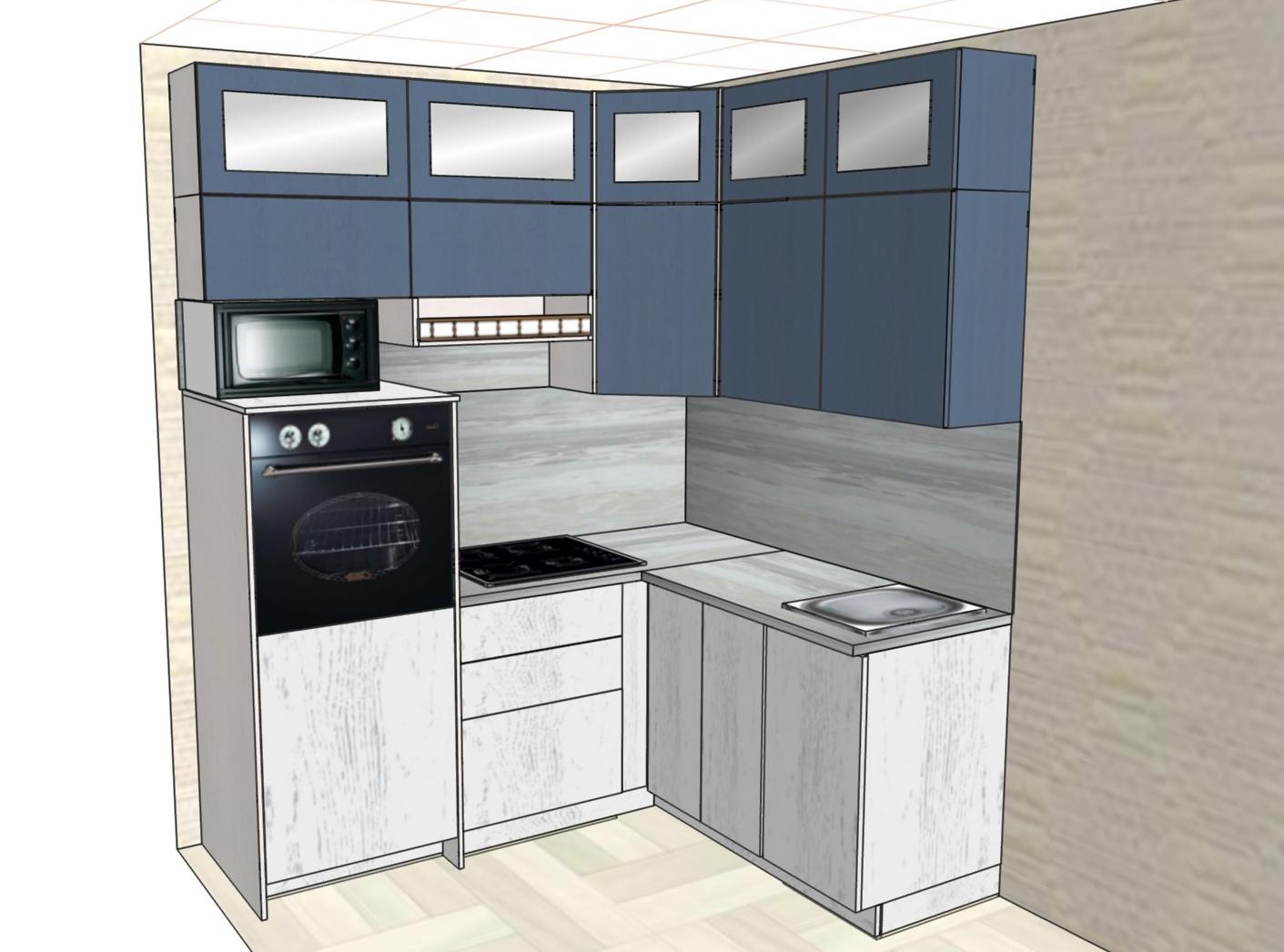 3D проект кухни - Orange Cat 385