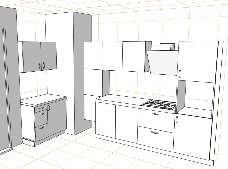 3D проект кухни - Orange Cat 386