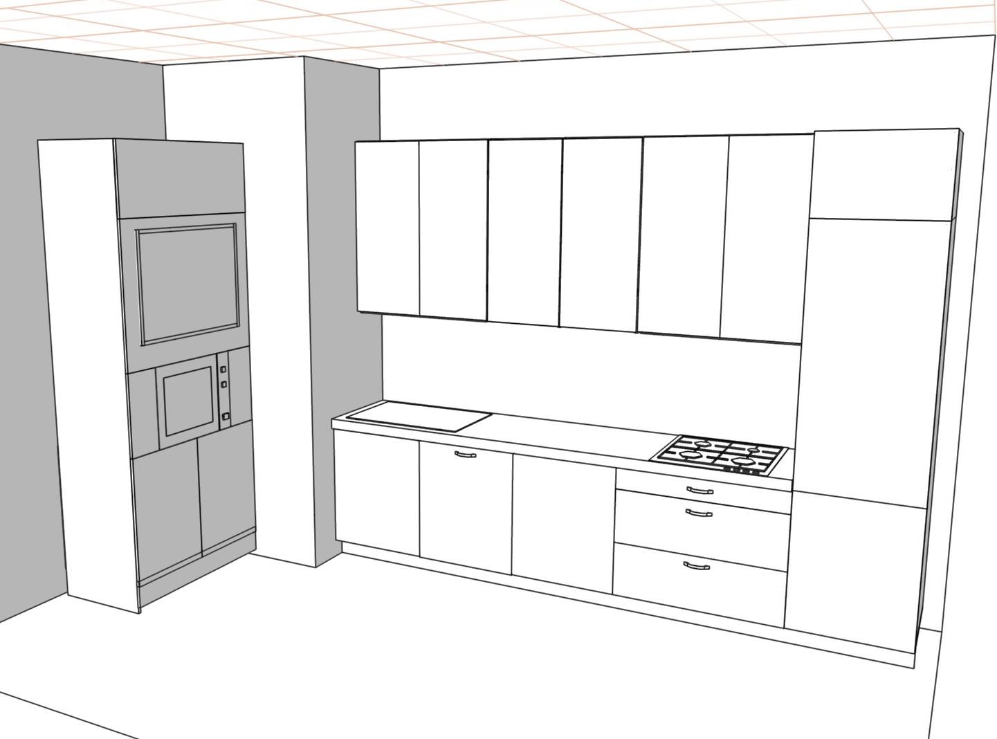 3D проект кухни - Orange Cat 389