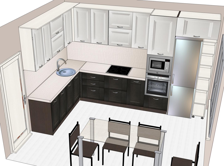 3D проект кухни - Orange Cat 390
