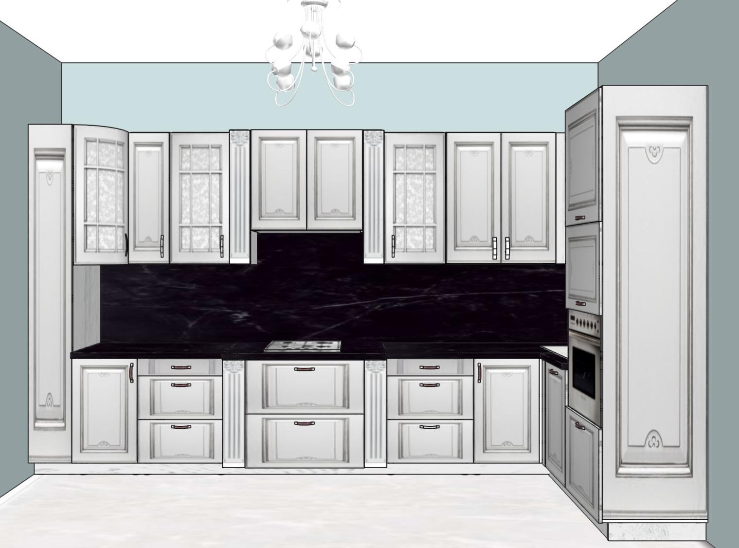 3D проект кухни - Orange Cat 391