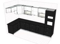 3D проект кухни - Orange Cat 106