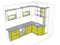 3D проект кухни - Orange Cat 107