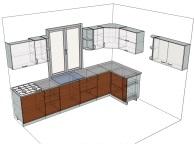 3D проект кухни - Orange Cat 108