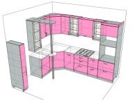 3D проект кухни - Orange Cat 109